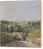 A View Of Osmington Village With The Church And Vicarage Wood Print