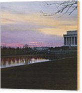 A View Of The Lincoln Memorial Wood Print