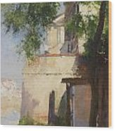 A View Of Venice From A Terrace Wood Print