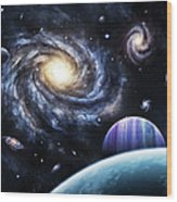 A View To A Nearby Galaxy From A Gas Wood Print