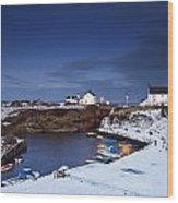 A Village On The Coast Seaton Sluice Wood Print