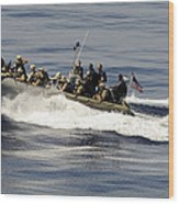 A Visit, Board, Search And Seizure Team Wood Print by Stocktrek Images