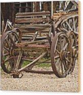 A Wagon And Wheels Wood Print