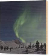 A Wave Of Auroras Wood Print