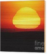 A Wavering Sunrise Wood Print