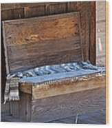 A Weathered Bench Wood Print
