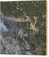 A Wildfire Burns Land Near Austin Wood Print