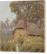 A Wiltshire Garden Wood Print