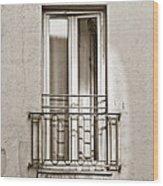 A Window In Paris Wood Print