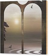 A Window To The Sunset Wood Print by Tom York Images