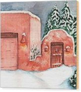 A Winter Clad Santa Fe Wood Print