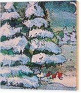 A Winter Feast Wood Print