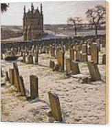 A Winter Graveyard Wood Print