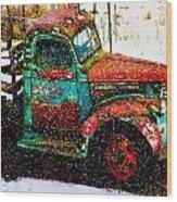 A Winter Near Taos Wood Print