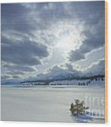 A Winter Sky Wood Print by Idaho Scenic Images Linda Lantzy