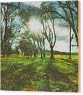 A Winter's Walk Wood Print