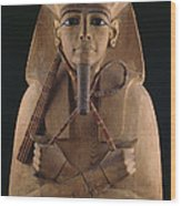 A Wooden Coffin Case Of The Pharaoh Wood Print