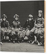 A Young Group Of Well Dressed Nepali Wood Print