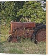 Abandonded Farm Tractor 2 Wood Print