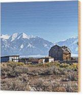 Abandonded Homestead In San Luis Valley Wood Print