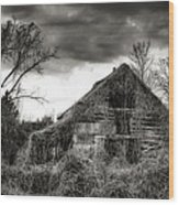 Abandoned Barn Wood Print