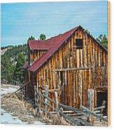 Abandoned Barn Ll Wood Print