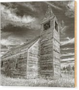 Abandoned Church Flora Oregon Wood Print