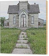 Abandoned Countryside Church Wood Print