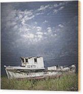 Abandoned Fishing Boat In Washington State Wood Print