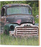 Abandoned Gmc Truck Wood Print