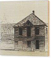 Abandoned Homestead - Okanogan Washington Wood Print