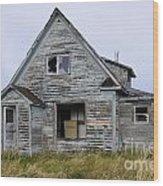 Abandoned House Wood Print