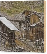 Abandoned Mine Wood Print