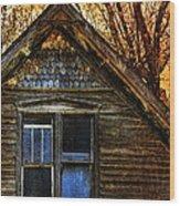 Abandoned Old House Wood Print