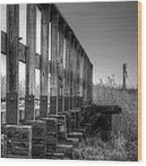 Abandoned Railway  Wood Print
