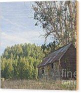 Abandoned Rustic Cabin Wood Print by Matt Tilghman