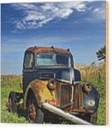Abandoned Rusty Truck Wood Print