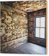 Abandoned Smoky Mountains Farm House - The Window Wood Print