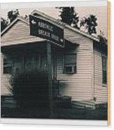 Abbeville Breaux Bridge Wood Print