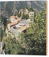 Abbey St Martin Du Canigou France Wood Print by Marilyn Dunlap