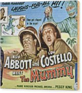 Abbott And Costello Meet The Mummy, Lou Wood Print