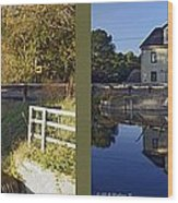 Abbotts Pond - Gently Cross Your Eyes And Focus On The Middle Image Wood Print