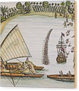 Abel Tasman Expedition 1643 Wood Print