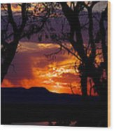 Abiquiu Sunset II Wood Print