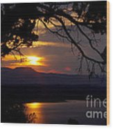 Abiquiu Sunset Wood Print