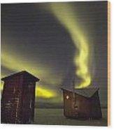 Abisko, Sweden. The Abisko Ark Hotel Wood Print