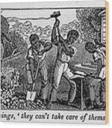 Abolitionist Cartoon Satirizing Slave Wood Print by Everett