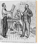 Abolitionist Newspaper Wood Print