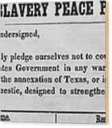 Abolitionist Peace Pledge Wood Print