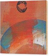 Aboriginal Ocean Wood Print